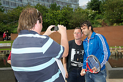 LIVERPOOL, ENGLAND - Tuesday, June 14, 2011: Chile ace Fernando Gonzalez is one of the first players to arrive in Liverpool ahead of the 10th Liverpool International Tennis Tournament, which begins June 16 at Calderstones Park. (Pic by David Rawcliffe/Propaganda)