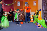 Middletown, New York  - Children play games at the Halloween Fall Festival at the Middletown YMCA's Center for Youth Programs on Oct. 25, 2014.