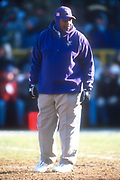Minnesota Vikings coach Dennis Green during an NFL football game against the Green Bay Packers, Sunday, Dec. 30, 2001, in Green Bay, Wisc. The Packers defeated the Vikings 24-13.