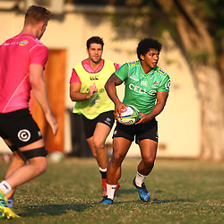 Garth April of the Cell C Sharks during the Cell C Sharks training, Jonsson Kings Park Stadium,Durban South Africa.27,06,2018 Photo by (Steve Haag REX Shutterstock )