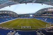 General Stadium view of the American Express Community Stadium during the EFL Sky Bet Championship match between Brighton and Hove Albion and Aston Villa at the American Express Community Stadium, Brighton and Hove, England on 18 November 2016.