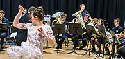 The leaders of Deal Music & Arts BOLD AS education project lead young musicians and dancers from Trinity Laban Conservatoire to perform a memorable concert based on the music from West Side Story. Performed for children from the Goodwin Academy. Goodwin Academy, Deal, Kent. © Tony Nandi 2019