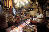 food shop (salumeria) Siena, Tuscany - photograph by Owen Franken