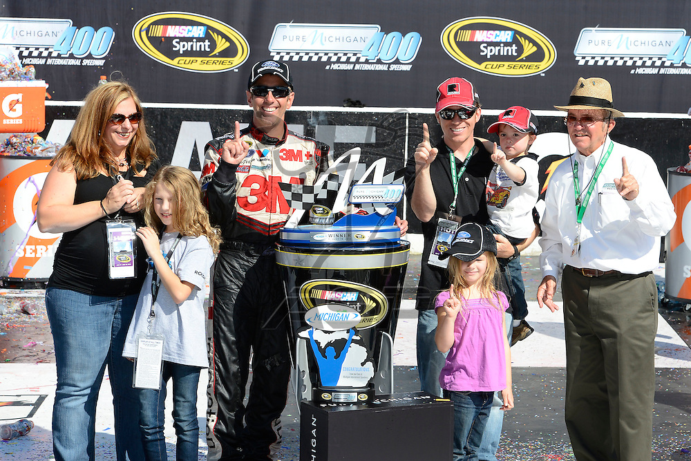 Brooklyn, MI  - Aug 19, 2012: Greg Biffle (16) wins the Pure Michigan 400 at Michigan International Speedway in Brooklyn, MI.