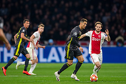 10-04-2019 NED: Champions League AFC Ajax - Juventus,  Amsterdam<br /> Round of 8, 1st leg / Ajax plays the first match 1-1 against Juventus during the UEFA Champions League first leg quarter-final football match / Daley Blind #17 of Ajax, Cristiano Ronaldo #7 of Juventus