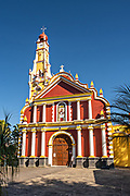The San Jeromino Parish church in the central historic district of Coatepec, Veracruz State, Mexico.