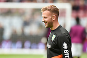 Norwich City striker (on loan from Sheffield Wednesday) Jordan Rhodes (11)  warms up during the EFL Sky Bet Championship match between Aston Villa and Norwich City at Villa Park, Birmingham, England on 5 May 2019.