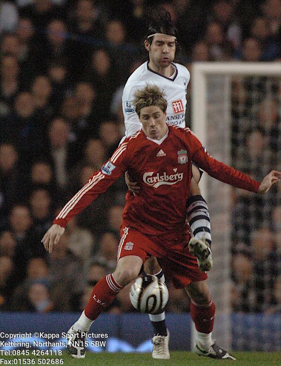 FERNANDO TORRES LIVERPOOL, Tottenham Hotspur - Liverpool, Carling Cup White Hart Lane Wednesday 12th November 2008, 12/11/08