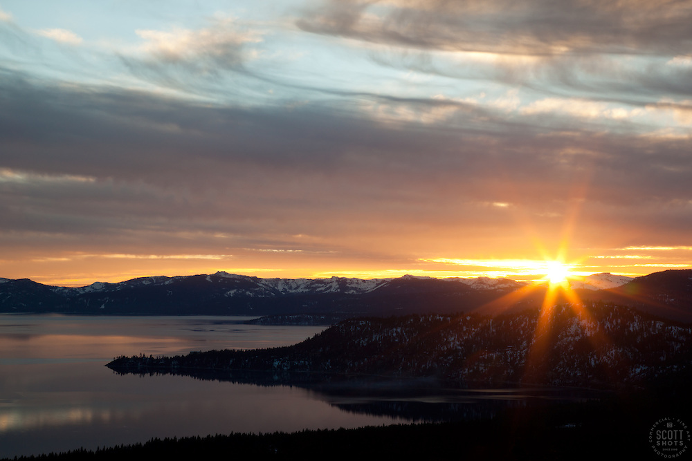 """Sunset at Lake Tahoe 17"" - This sunset at Lake Tahoe was photographed from the vista point on Hwy  431, or Mount Rose Highway."