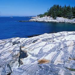 Acadia N.P., ME. Isle Au Haut. Western Head Trail. Penobscot Bay. Maine coast.
