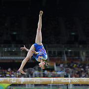 Gymnastics - Olympics: Day 2   Sanne Wevers #370 of The Netherlands performing her routine on the Balance Beam during the Artistic Gymnastics Women's Team Qualification round at the Rio Olympic Arena on August 7, 2016 in Rio de Janeiro, Brazil. (Photo by Tim Clayton/Corbis via Getty Images)