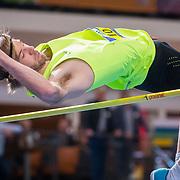 NLD/Apeldoorn/20180217 - NK Indoor Athletiek 2018, hoogspringen, Douwe Amels