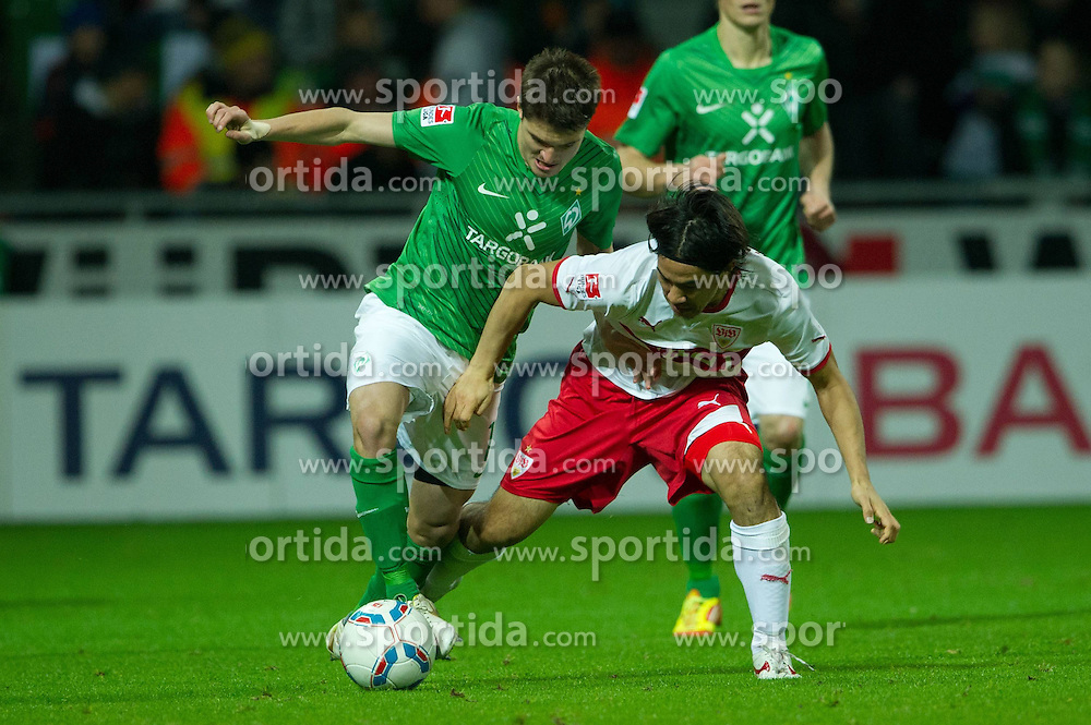27.11.2011, Weser Stadion, Bremen, GER, 1.FBL, Werder Bremen vs VFB Stuttgart, im BildAleksandar Ignjovski (Bremen #17) Shinji Okazaki (Stuttgart #31). // during the Match GER, 1.FBL, Werder Bremen vs VFB Stuttgart, Weser Stadion, Bremen, Germany, on 2011/11/27.EXPA Pictures © 2011, PhotoCredit: EXPA/ nph/ Kokenge..***** ATTENTION - OUT OF GER, CRO *****