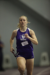 London, Ontario ---10-01-23---  Lisa Grieve of the Western Mustangs competes at the 2010 Don Wright Team Challenge in London, Ontario, January 23, 2010..GEOFF ROBINS Mundo Sport Images