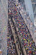 Rotterdam marathon on Erasmus Bridge - 8 April 2018