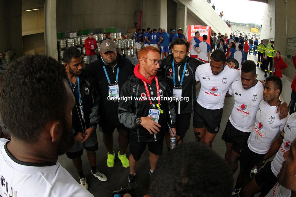 Fiji's Head Coach Ben Ryan.<br /> Day 2, Paris 7s. World Rugby HSBC Sevens Series in Paris France, 14-15 May 2016.<br /> For editorial news use only NO AGENTS.<br /> Photo: www.worldrugby.org