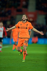 SOUTHAMPTON, ENGLAND - Sunday, February 11, 2018: Liverpool's Adam Lallana during the FA Premier League match between Southampton FC and Liverpool FC at St. Mary's Stadium. (Pic by David Rawcliffe/Propaganda)