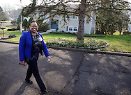 HS1HEART17P <br /> Nurse practitioner Janet Dunn exits the home of Oivind Midthassel of Southampton, Pennsylvania after checking on his health Friday December 11, 2015 in Southampton, Pennsylvania. (William Thomas Cain/For The Inquirer)