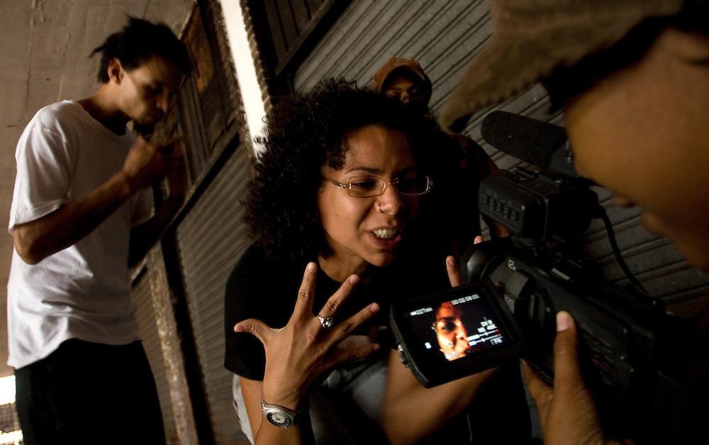 Belo Horizonte_MG, Brasil...Making of da gravacao do videoclip da banda de Rap Dejavuh, realizado com subsidios da AIC (Associacao Imagem Comunitaria). ..The marking of about the clip recording of the band Rap Dejavuh...Foto:BRUNO MAGALHAES / NITRO