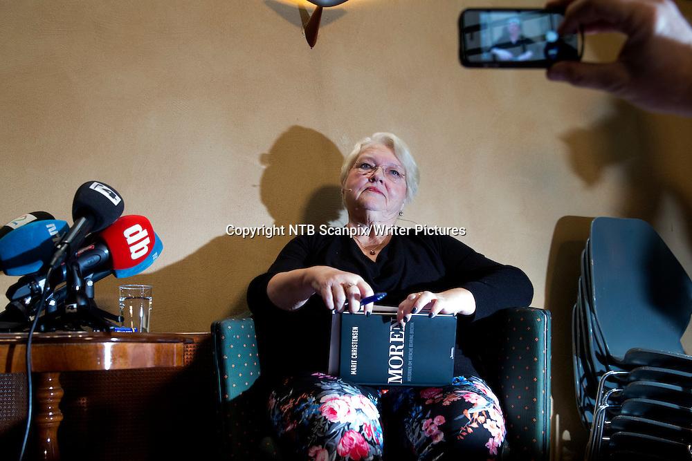 Oslo  20131031.<br /> Forfatter Marit Christensen presenterer boken &quot;Moren. Historien om Wenche Behring Breivik&quot; p&Acirc; Aschehoug forlag i Oslo torsdag formiddag.<br /> Foto: H&Acirc;kon Mosvold Larsen / NTB scanpix<br /> <br /> NTB Scanpix/Writer Pictures<br /> <br /> WORLD RIGHTS, DIRECT SALES ONLY, NO AGENCY
