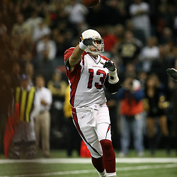 2007 December, 16: Cardinals quarterback Kurt Warner during a 31-24 win by the New Orleans Saints over the Arizona Cardinals at the Louisiana Superdome in New Orleans, LA.