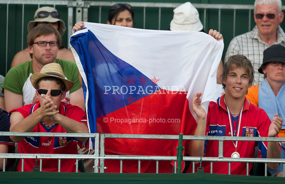 LONDON, ENGLAND - Friday, June 25, 2010: Czech spectator look on during the Gentlemen's Singles 3rd Round on day five of the Wimbledon Lawn Tennis Championships at the All England Lawn Tennis and Croquet Club. (Pic by David Rawcliffe/Propaganda)