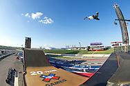 Elliot Sloan during Skate Big Air Practice at 2014 X Games Austin in Austin, TX.    ©Brett Wilhelm/ESPN