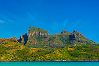 Mt. Otemanu, Bora Bora, Society Islands, French Polynesia.