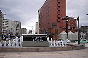 Japan, Ishikawa Prefecture, Kanazawa Digital water clock