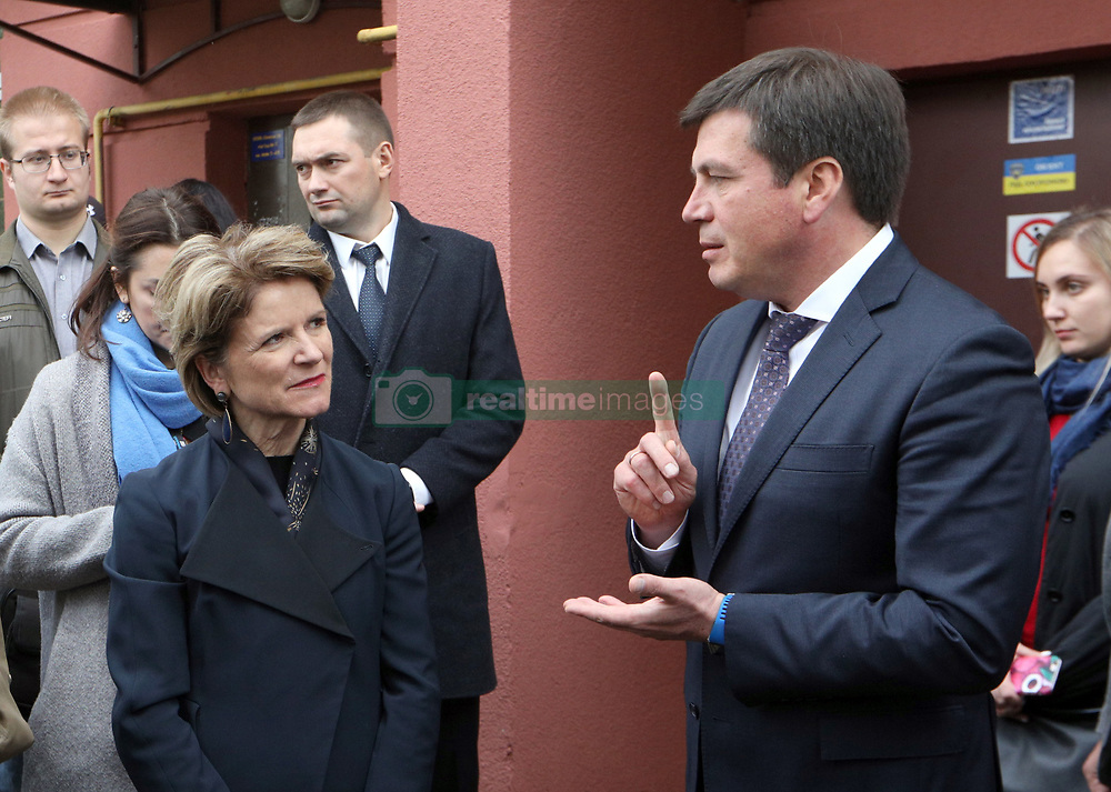 October 2, 2018 - Kyiv, Ukraine - State Secretary for Economic Affairs of Zwitzerland Marie-Gabrielle Ineichen-Fleisch and Vice Prime Minister - Minister of Regional Development, Construction, Housing and Communal Services of Ukraine Hennadii Zubko (L to R) visit an energy efficient co-op in Kyiv, capital of Ukraine, October 2, 2018. Ukrinform. (Credit Image: © Danil Shamkin/Ukrinform via ZUMA Wire)