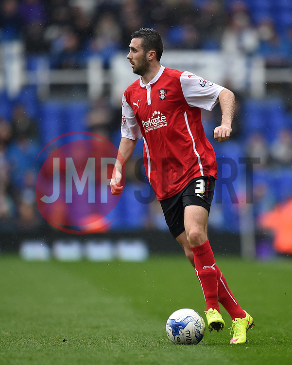 Rotherham United's Danny Lafferty in action during the Sky Bet Championship match between Birmingham City and Rotherham United at St Andrew's Stadium on 3 April 2015 in Birmingham, England - Photo mandatory by-line: Paul Knight/JMP - Mobile: 07966 386802 - 03/04/2015 - SPORT - Football - Birmingham - St Andrew's Stadium - Birmingham City v Rotherham United - Sky Bet Championship
