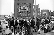 Frickley, Askern Main and Sharlston Branch banners. 1991 Yorkshire Miners Gala. Doncaster.