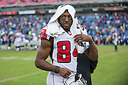 NASHVILLE, TN - OCTOBER 25:  Roddy White #84 of the Atlanta Falcons on the sidelines during a game against the Tennessee Titans at Nissan Stadium on October 25, 2015 in Nashville, Tennessee.  The Falcons defeated the Titans 10-7.  (Photo by Wesley Hitt/Getty Images) *** Local Caption *** Roddy White