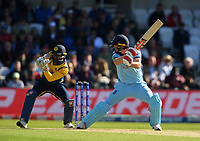 Cricket - 2019 ICC Cricket World Cup - Group Stage: England vs. Sri Lanka<br /> <br /> England's Chris Woakes caught behind by Sri Lanka's Kusal Perera off the bowling of Dhananjaya de Silva, at Headingley, Leeds<br /> <br /> COLORSPORT/ASHLEY WESTERN