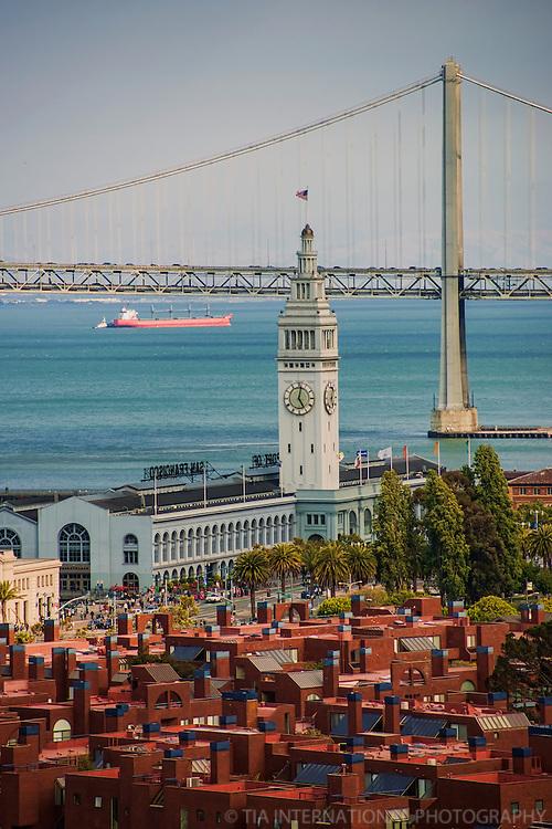 Ferry Building & Bay Bridge, Embarcadero
