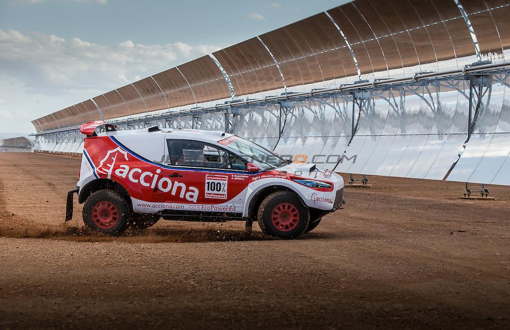 Acciona 100x100 ecopowered,electric car, Dakar 2016, Marroco 2015, Ouazarzate