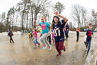 Meredith Parks and Rec parking lot games during Vacation Week camp.  Karen Bobotas for the Laconia Daily Sun