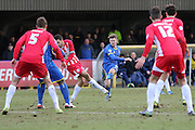 Jake Reeves midfielder for AFC Wimbledon (8) in action during the Sky Bet League 2 match between AFC Wimbledon and Accrington Stanley at the Cherry Red Records Stadium, Kingston, England on 5 March 2016. Photo by Stuart Butcher.