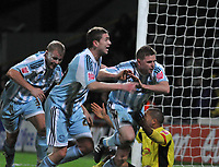 Photo: Richard Lane/Richard Lane Photography. Watford v Derby County. Coca Cola Championship. 12/12/2009. <br /> Chris Porter (right) celebrates after coming on as a sub and scoring a late winning goal for Derby County