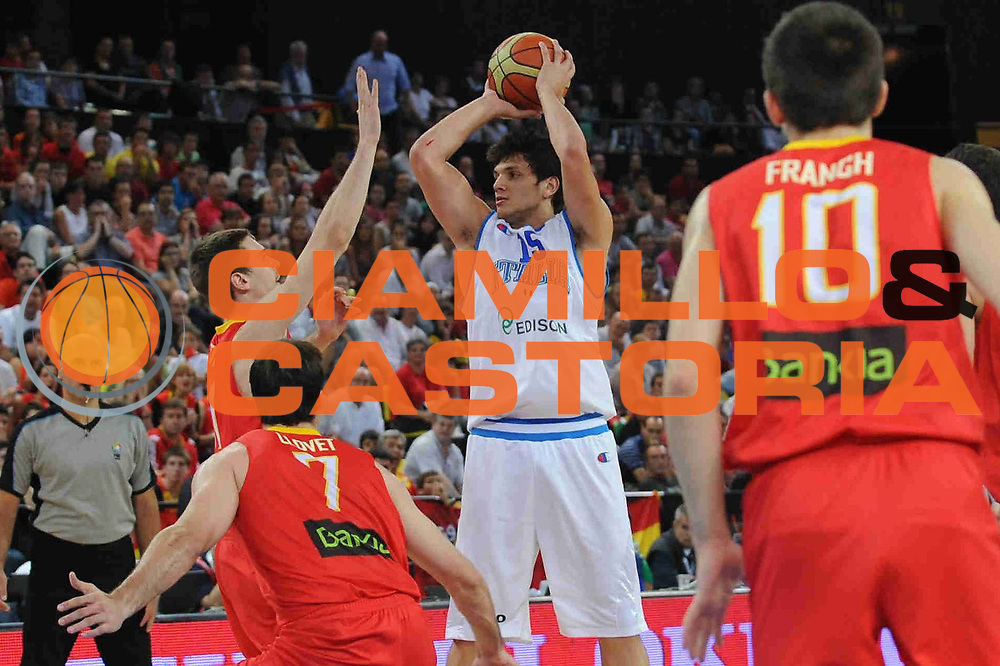 DESCRIZIONE : Bilbao Spain U20 European Championship Men Final 1st 2nd Place Italy Spain Italia Spagna<br /> GIOCATORE : Alessandro Gentile<br /> SQUADRA : Nazionale Italiana Uomini U20<br /> EVENTO : Bilbao Spain U20 European Championship Men Final 1st 2nd Place Italy Spain Europeo Maschile Under 20 Finale Italia Spagna<br /> GARA : Italy Spain Italia Spagna<br /> DATA : 24/07/2011<br /> CATEGORIA : <br /> SPORT : Pallacanestro <br /> AUTORE : Agenzia Ciamillo-Castoria/M.Marchi<br /> Galleria : Europeo Under 20 Maschile 2011<br /> Fotonotizia : Bilbao Spain U20 European Championship Men Final 1st 2nd Place Italy Spain Italia Spagna<br /> Predefinita :