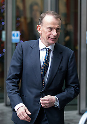 © Licensed to London News Pictures. 10/12/2017. London, UK. Andrew Marr leaves BBC Broadcasting House after appearing on his self-titled show The Andrew Marr Show this morning. Photo credit : Tom Nicholson/LNP