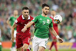 September 5, 2017 - Dublin, Ireland - Shane Long of Ireland and Antonio Rukavina of Serbia during the FIFA World Cup 2018 Qualifying Round match between Republic of Ireland and Serbia at Aviva Stadium in Dublin, Ireland on September 5, 2017  (Credit Image: © Andrew Surma/NurPhoto via ZUMA Press)