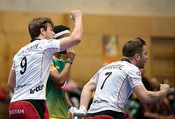 BERLIN - Indoor Hockey World Cup<br /> South Africa - Belgium<br /> foto: Pierre Louis Maraite AND Maxime Plennevaux <br /> WORLDSPORTPICS COPYRIGHT FRANK UIJLENBROEK