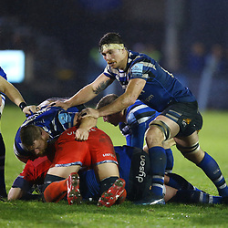 Francois Louw of Bath Rugby during the Gallagher Premiership match between Bath Rugby and Sale Sharks at the The Recreation Ground Bath England.2nd December 2018,(Photo by Steve Haag Sports)