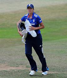 England's Jenny Gunn - Photo mandatory by-line: Harry Trump/JMP - Mobile: 07966 386802 - 21/07/15 - SPORT - CRICKET - Women's Ashes - Royal London ODI - England Women v Australia Women - The County Ground, Taunton, England.