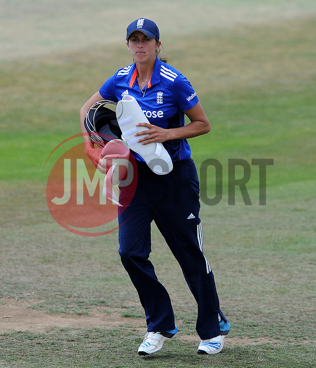 England's Jenny Gunn - Photo mandatory by-line: Harry Trump/JMP - Mobile: 07966 386802 - 21/07/15 - SPORT - CRICKET - Women's Ashes - Royal London ODI - England Women v Australia Women - The County Ground, Taunton, England.