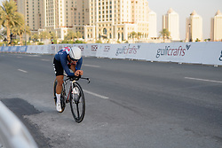 Carmen Small (USA) at the 28.9 km Elite Women's Individual Time Trial, UCI Road World Championships 2016 on 11th October 2016 in Doha, Qatar. (Photo by Sean Robinson/Velofocus).