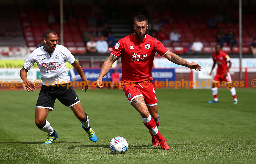 Crawley's Ollie Palmer during the pre season friendly between Crawley Town and KSV Roeselare at The Broadfield Stadium, Crawley , UK. 28 July 2018.