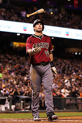 SAN FRANCISCO, CA - APRIL 20: Paul Goldschmidt #44 of the Arizona Diamondbacks reacts after striking out against the San Francisco Giants during the sixth inning at AT&T Park on April 20, 2016 in San Francisco, California.  (Photo by Jason O. Watson/Getty Images) *** Local Caption *** Paul Goldschmidt