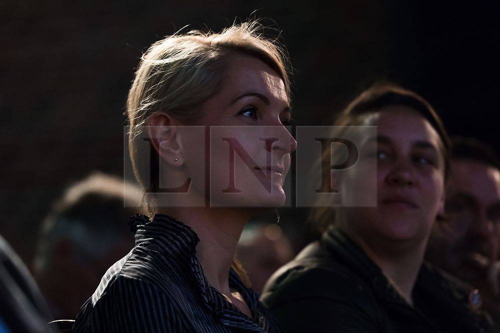 © Licensed to London News Pictures. 15/05/2017. LONDON, UK.  SOPHIE WALKER, leader of the Women's Equality Party listens to speeches at the Progressive Alliance launch in London. The Progressive Alliance is a cross political party group who are campaigning against the Tories and encouraging tactical voting in the general election.  Photo credit: Vickie Flores/LNP